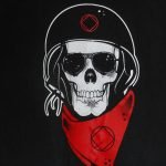NA T-Shirts Skull With Helmet T-Shirt