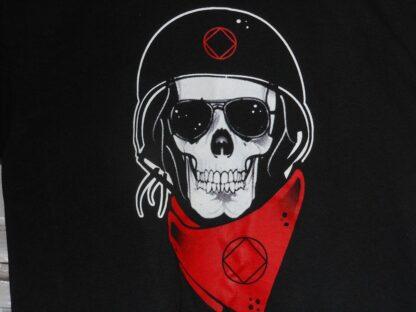 Skull With Helmet T-Shirt