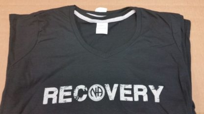 NA Ladies T-Shirt V-Neck Recovery V-Neck Black