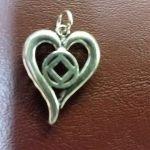 NA Sterling Silver Pendants Silver NA Symbol Heart Pendant