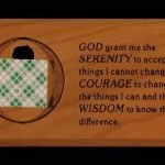 NA Medallion Holders Medallion Holder with Serenity Prayer