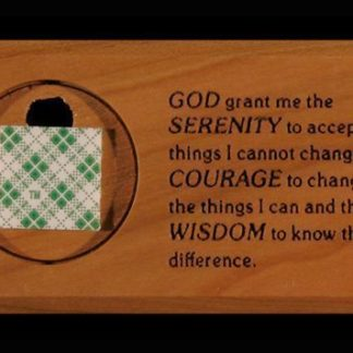 Medallion Holder with Serenity Prayer
