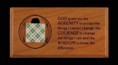 Medallion Holder with Serenity Prayer