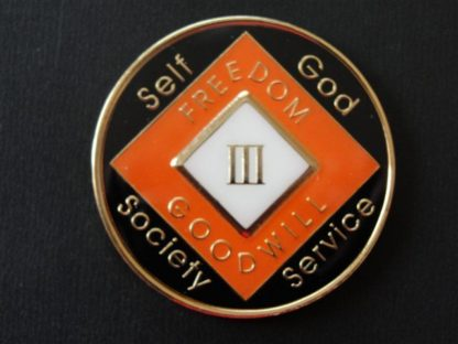 Orange Eternity Tri-Plate Medallion