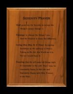 NA Miscellaneous Gifts Serenity Prayer Plaque