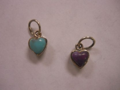 Charms – Heart with stone