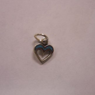 Charm – Heart w/turquoise