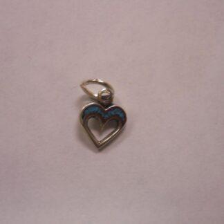 Charm – Heart w/turquoise