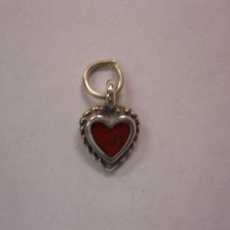 Charm – Heart w/red center
