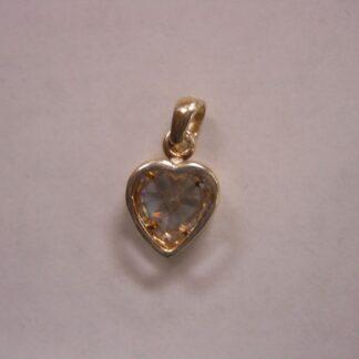 Charm #29  Heart w/stone