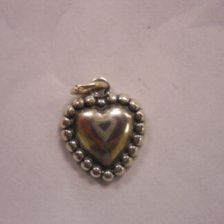 Charm #23  Silver Heart