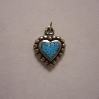Charm #15  Heart w/Turquoise