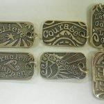 "NA Sterling Silver Pendants Sterling Silver Dog Tagz – Large  1 3/8"" X 3/4"" Hope"