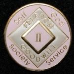Pink Tri-Plate Medallions 13 Year NA Tri-Plate Pink Medallion