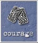 "Dog Tagz – Small  1/2"" X 1/4"" Courage"
