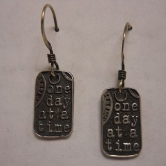 Dog Tag Earrings – Pair: Let Go
