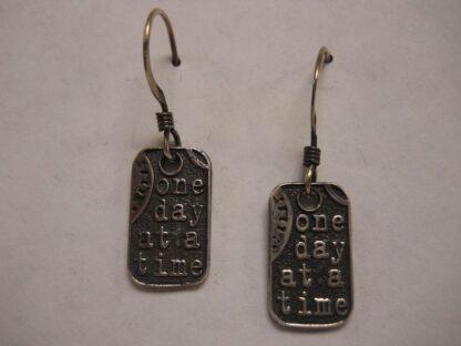 Dog Tag Earrings – Pair: Let Go