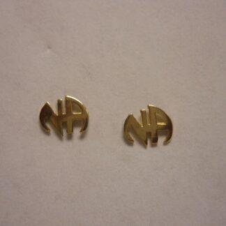 NA Initial Earrings 14K