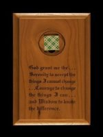 NA Medallion Holders Wall Plaque Med Holder with Serenity Prayer