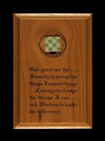 Wall Plaque Med Holder with Serenity Prayer