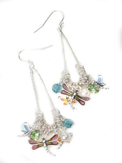Dragonfly Theme Earrings