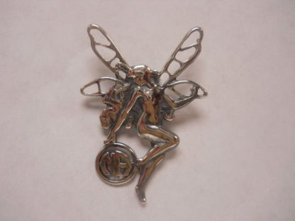 "Sterling Silver Fairy NA Pendant 1 3/4"" X 1"""