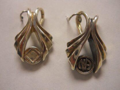 Sterling Silver Wishbone Pendant w/NA Symbol or Logo