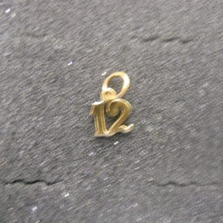 Small Ornate #12 14K Gold