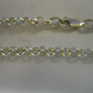 Anklet/Bracelet-Rolo, Silver
