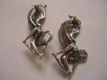 Sterling Silver Winged Woman NA Pendant