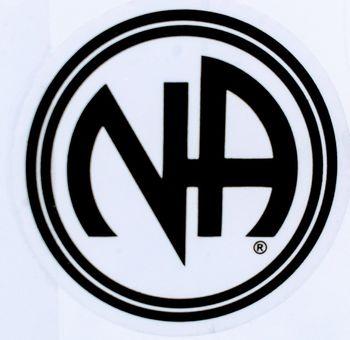 Medium Round NA Logo Sticker 3″