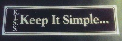 Keep It Simple – Bumper Sticker