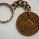 Antiqued Medallion Key Chain