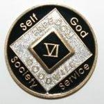 Black Tri-Plate Medallions