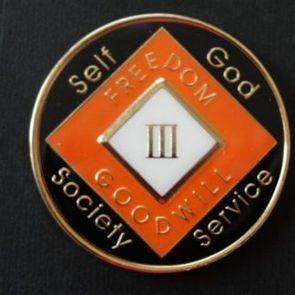Orange Tri-Plate NA Medallions