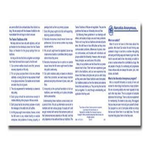 Narcotics Anonymous Wallet Cards