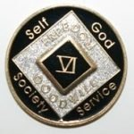 Black Tri-Plate Medallions 10 Year Tri-Plate Medallion Black