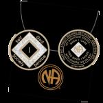 Black Tri-Plate Medallions 23 Year Tri-Plate Medallion Black