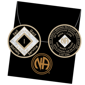 23 Year Tri-Plate Medallion Black