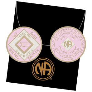 43 Year NA Tri-Plate Pink Medallion