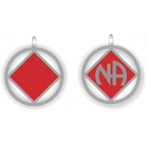 NA Logo Pendant Red and Silver