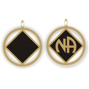 Double Sided Black and Gold NA Pendant