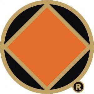 NA Symbol Lapel Pin Black and Gold