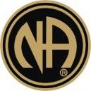 NA Logo Lapel Pin Black & Gold