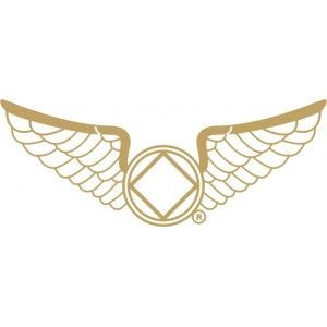 White Wings with Gold Trim
