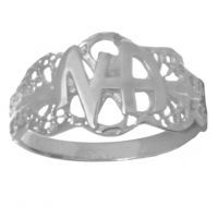 NA Initial Filigree Ring Size 7