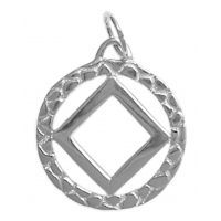 Sterling Silver NA Rope Style NA Symbol Pendant