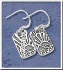 NA Sterling Silver Jewerlry Dog Tag Earrings – Pair